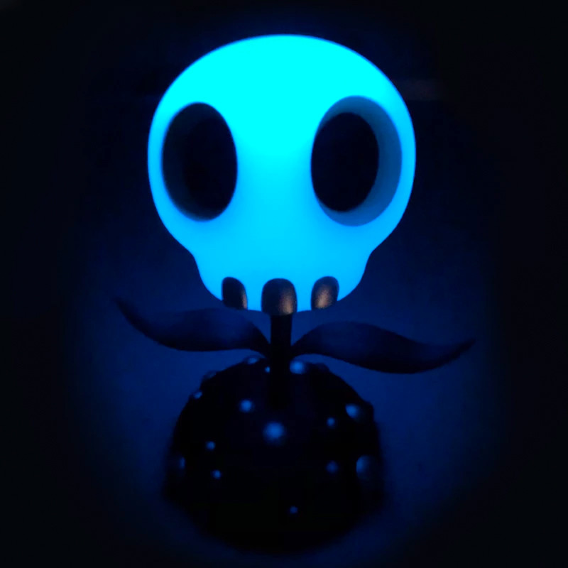 Skull Flower 5 inch GID by Tara McPherson PRE-ORDER SHIPS EARLY DEC 2019