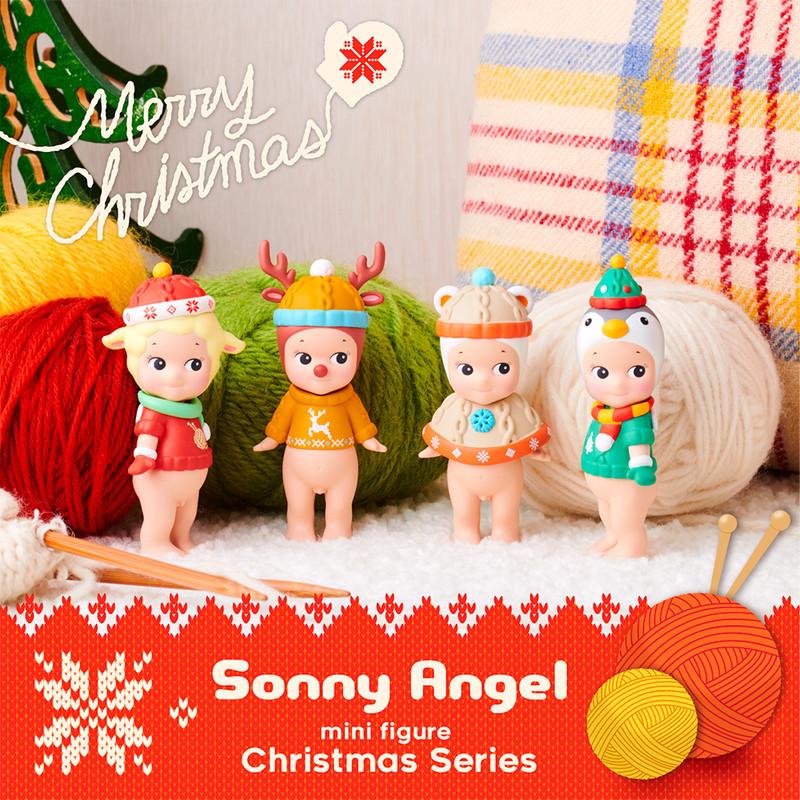 Sonny Angel Christmas 2019 4 Piece Display Kit Box