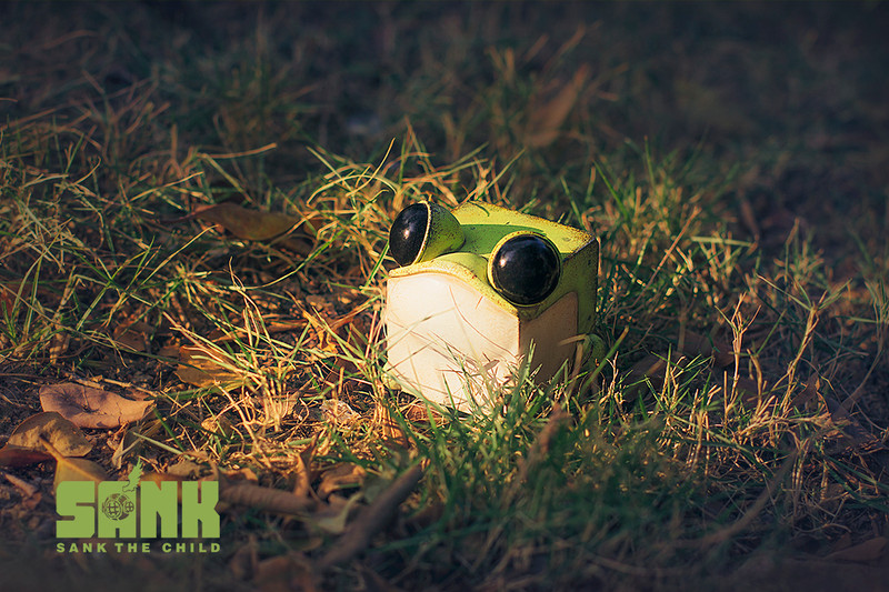 Cube Frog Green by Sank Toys