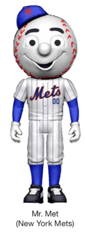 MLB Mascot ReAction Figure Mr. Met (New York Mets)