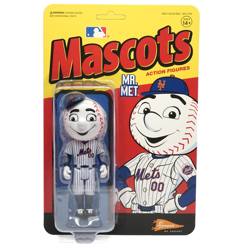 MLB Mascot ReAction Figure Mr. Met (New York Mets)