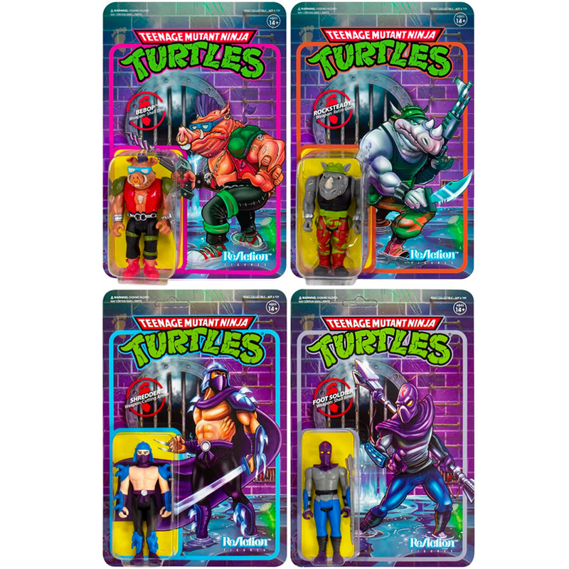 Teenage Mutant Ninja Turtles ReAction Figure Foot Clan