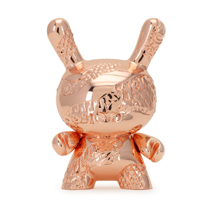 New Money Metal Rose Gold Dunny by Tristan Eaton