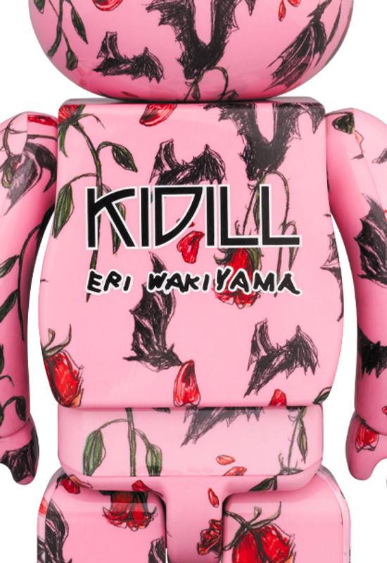 Be@rbrick 400% and 100% KIDILL × ERI WAKIYAMA Bat & Rose Pink PRE-ORDER SHIPS MAR 2020