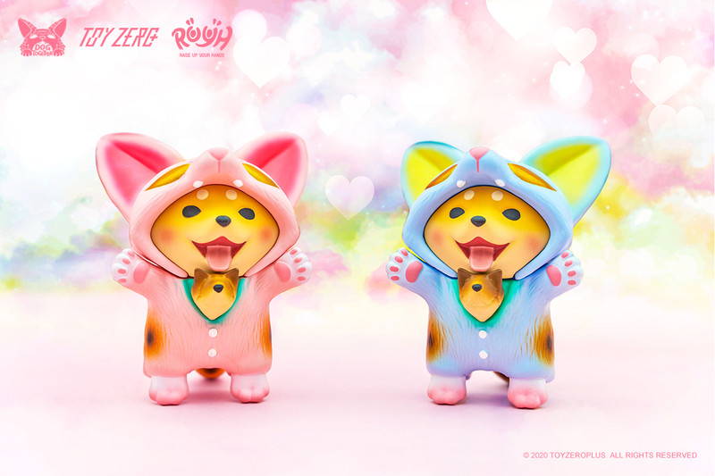 Raise Up Your Hands (R.U.Y.H.) Baby Dou Dou Maneki Rose Pink / Pastel Blue PRE-ORDER SHIPS LATE MAY 2020