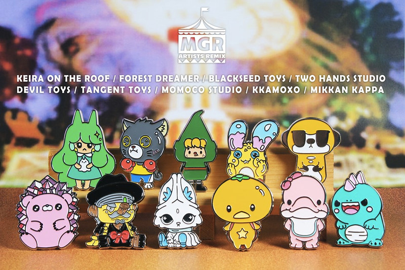 MGR Worldwide Artists Remix Pin Collection Blind Box PRE-ORDER SHIPS MAY 2020