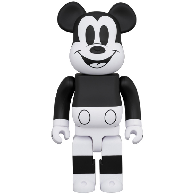 Be@rbrick 400% and 100% Mickey Mouse B&W 2020