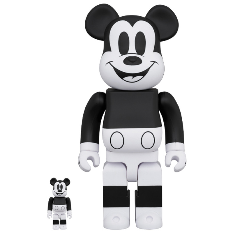 Be@rbrick 400% and 100% Mickey Mouse B&W 2020 PRE-ORDER SHIPS AUG 2020