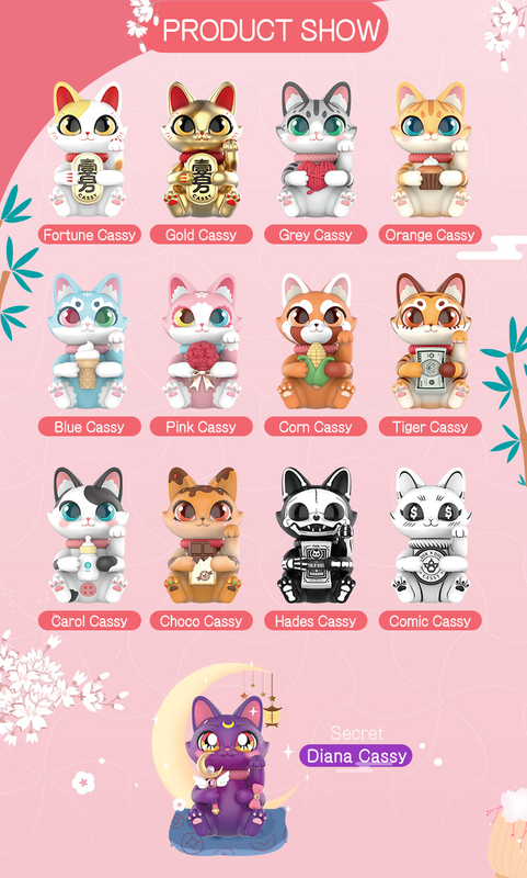 Cassy Your Lucky Cat Mini Series Blind Box by Sally PRE-ORDER SHIPS JUNE 2020