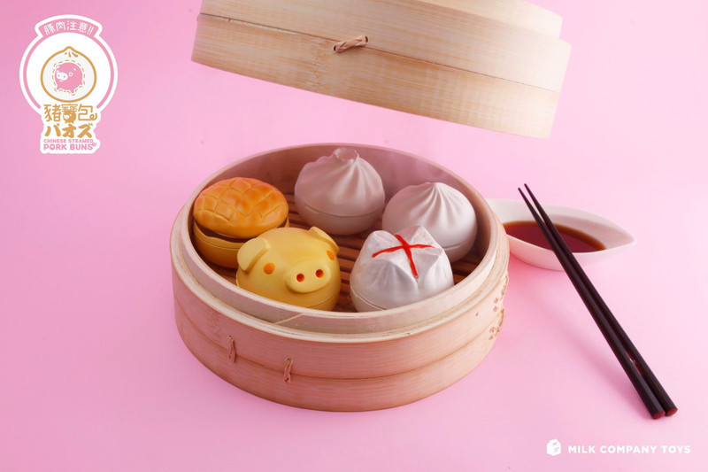 Chinese Steamed Pork Buns Random Assortment by A For Adrian
