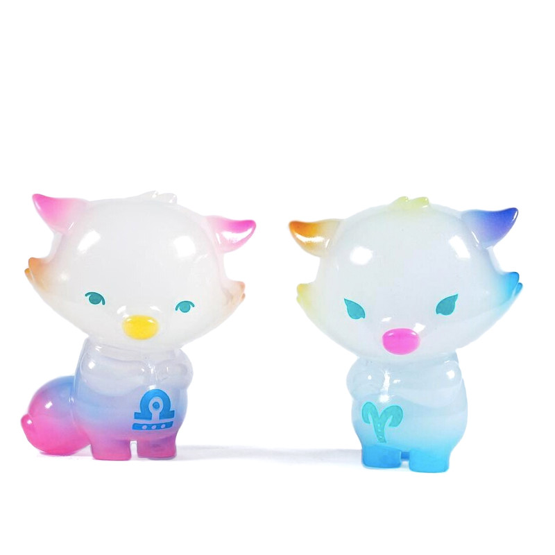 Zodiac Little Fox Libra and Aries by Okluna PRE-ORDER SHIPS LATE MAY 2020