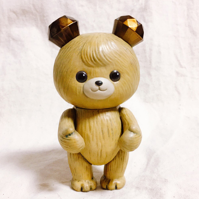 Jewel Bear Brown Teddy Hand Painted by MAMES