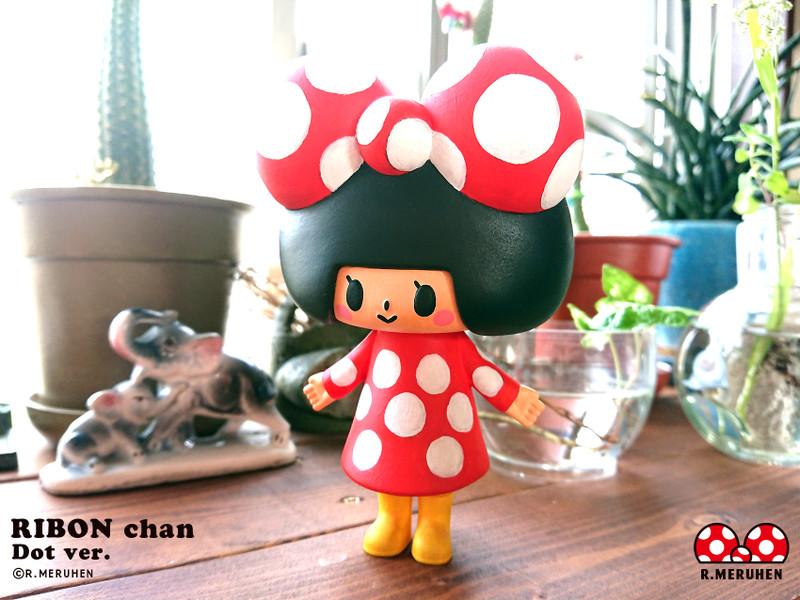 Ribon-Chan Dot Ver. Hand Painted by Rieko Meruhen