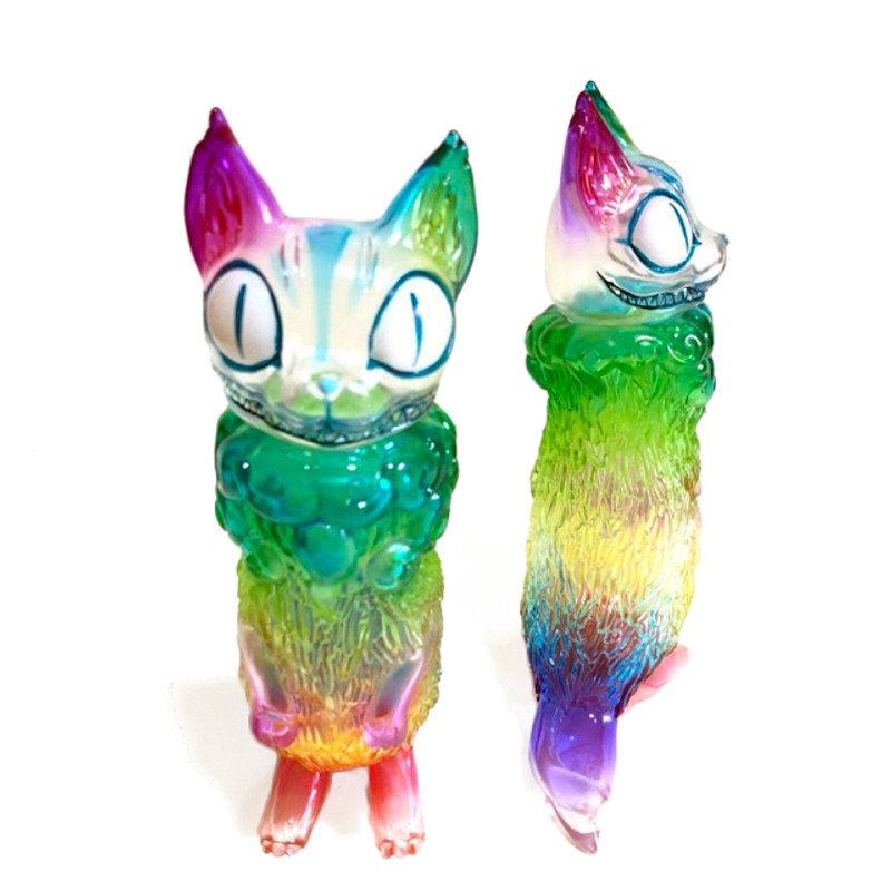 Bakeneko Extermination Clear Rainbow Hand Painted by Yasu
