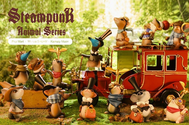 Steampunk Animals Mini Series Blind Box by Manas S+U+M & Kamaty Moon PRE-ORDER SHIPS AUG 2020