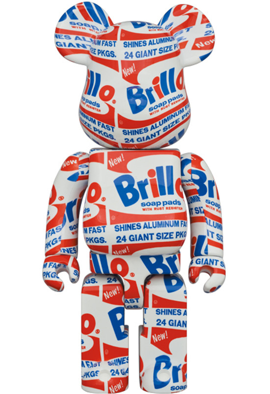 Be@rbrick 400% and 100% Brillo by Andy Warhol PRE-ORDER SHIPS FEB 2021