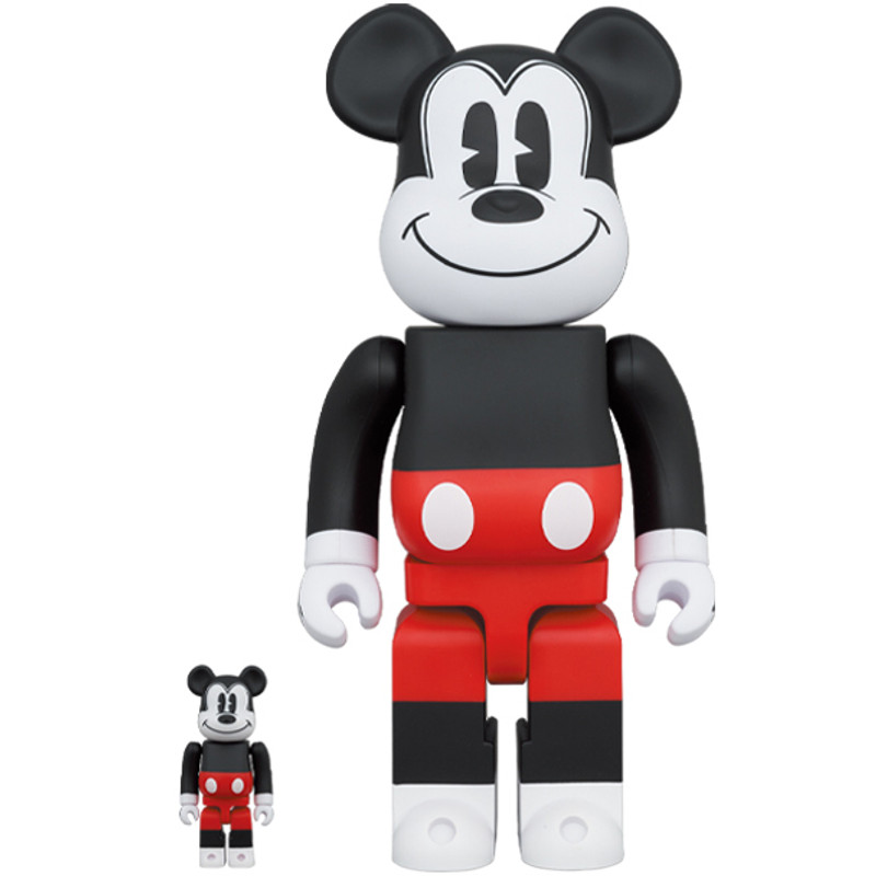 Be@rbrick 400% and 100% Mickey Mouse R&W 2020