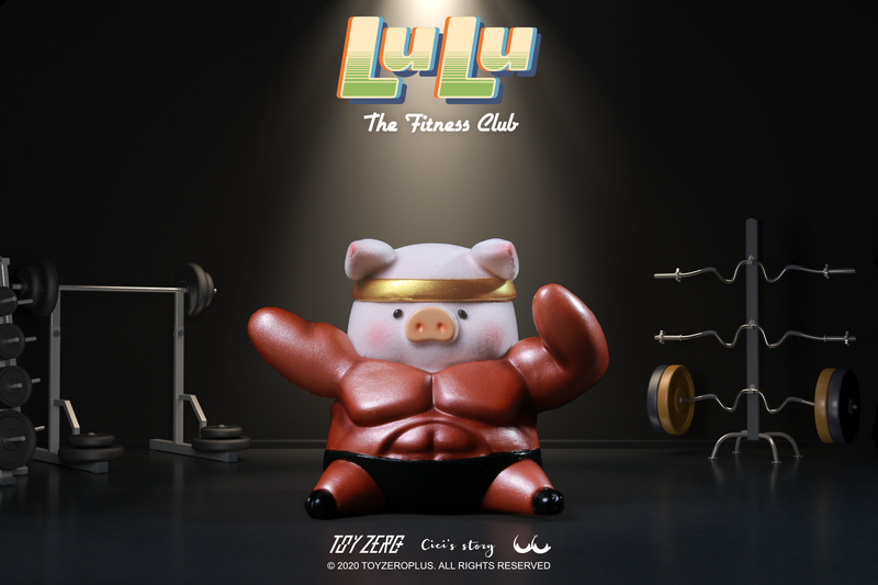 Lulu Piggy The Fitness Club Blind Box by Cici's Story PRE-ORDER SHIPS SEP 2020