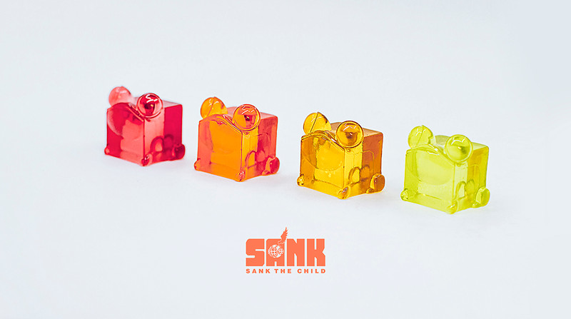 Cube Series Candy Frog Set of 4 by Sank Toys PRE-ORDER SHIPS SEP 2020