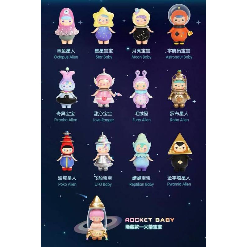 Pucky Space Babies Mini Series Open Blind Box