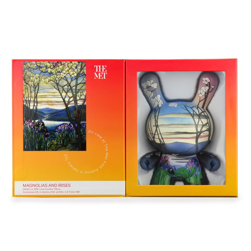 """The MET 8"""" Masterpiece Dunny Louis C. Tiffany Magnolias and Irises PRE-ORDER SHIPS APR 2021"""