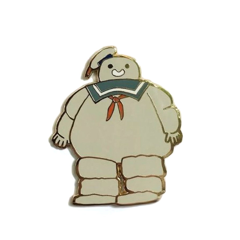 Marshmallow Man Enamel Pin by Scott C.
