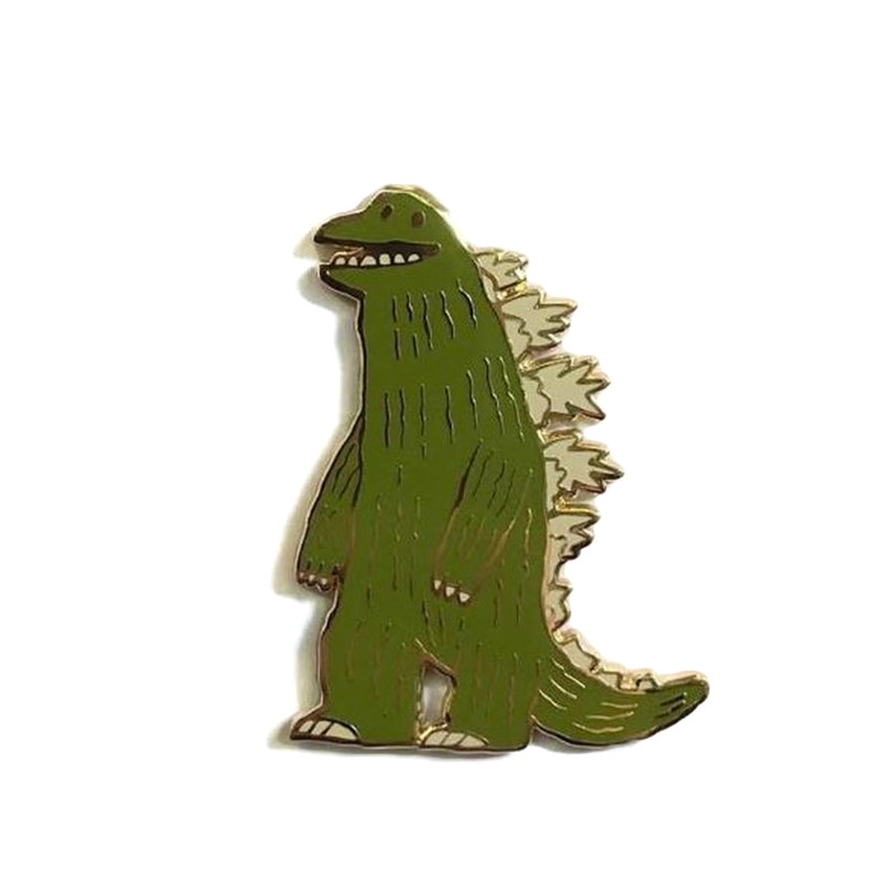 The Thunder Lizard Enamel Pin by Scott C.