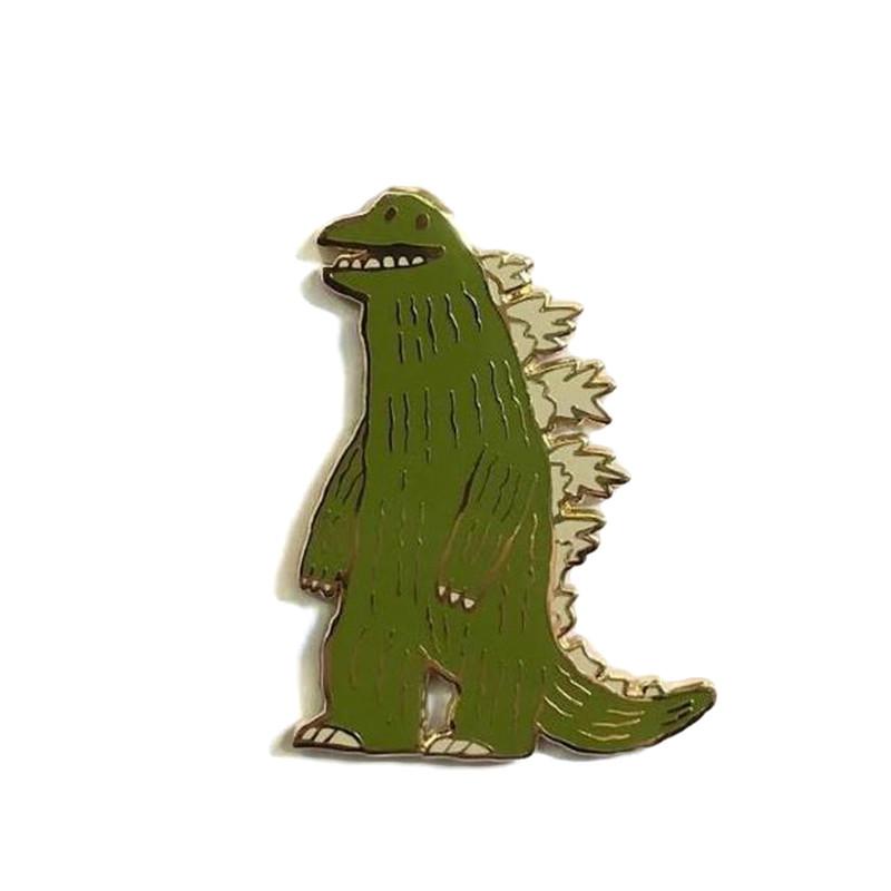 The Thunder Lizard Enamel Pin by Scott C.