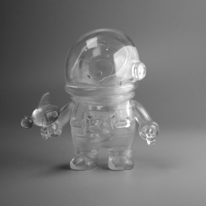 Coco the Astrochimp Clear by Kendytan Works