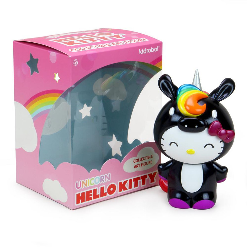 """Hello Kitty Unicorn 8"""" Figure Black"""