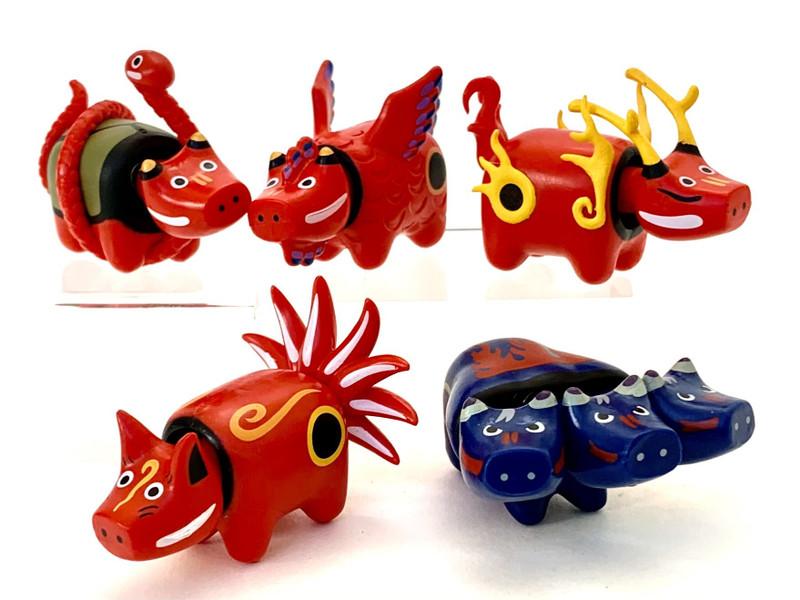 Japanese Mythological Animals Capsule Toys