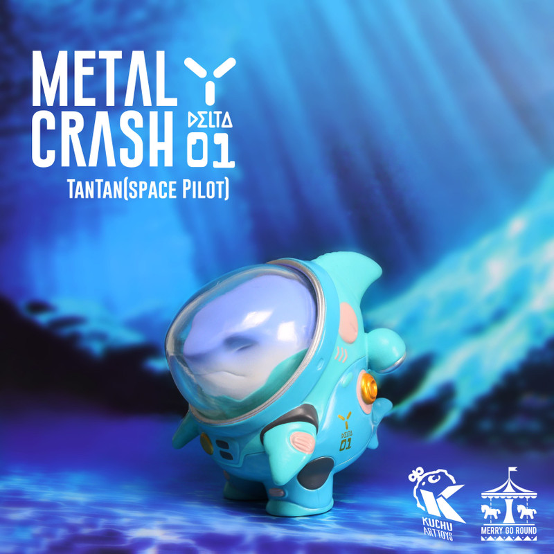 Space Pilot TAN TAN Metal Crash Blue by Kuchu PRE-ORDER SHIPS FEB 2021