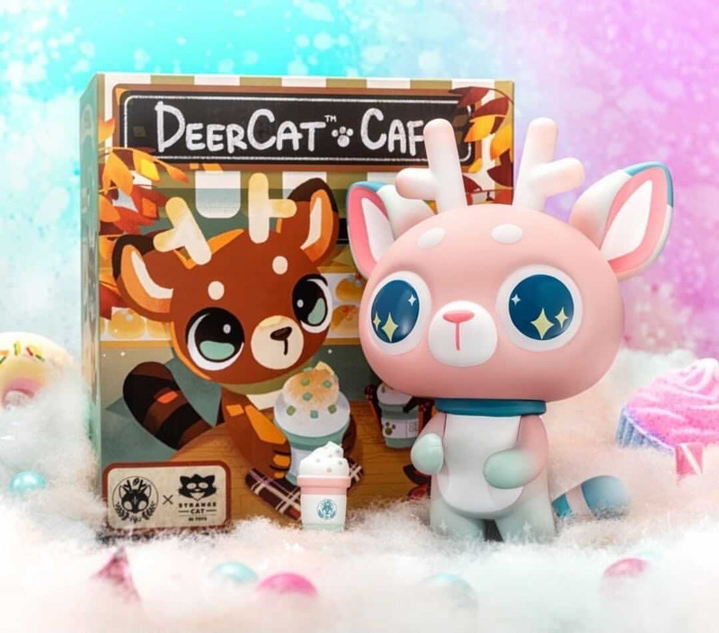 DeerCat Cotton Candy Sparkle by Amber Aki Huang