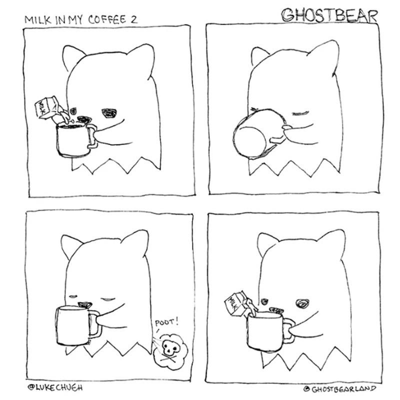 Ghostbear Rainbow by Luke Chueh