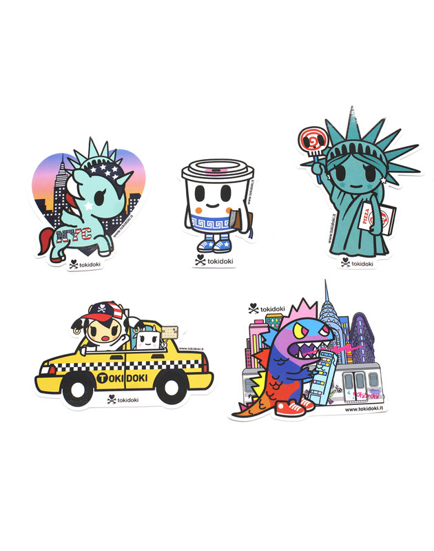 Tokidoki NYC Collection 5 Pack Stickers