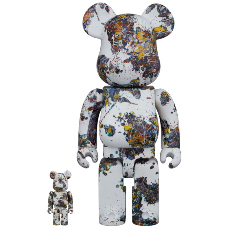 Be@rbrick 400% and 100% Jackson Pollock Studio (SPLASH)