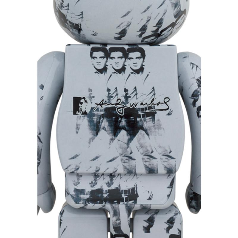 Be@rbrick 400% and 100% Andy Warhol's Elvis Presley