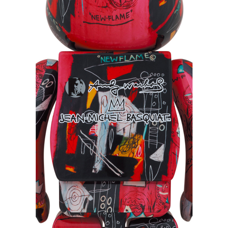 Be@rbrick 1000% Andy Warhol X Jean Michel Basquiat #1