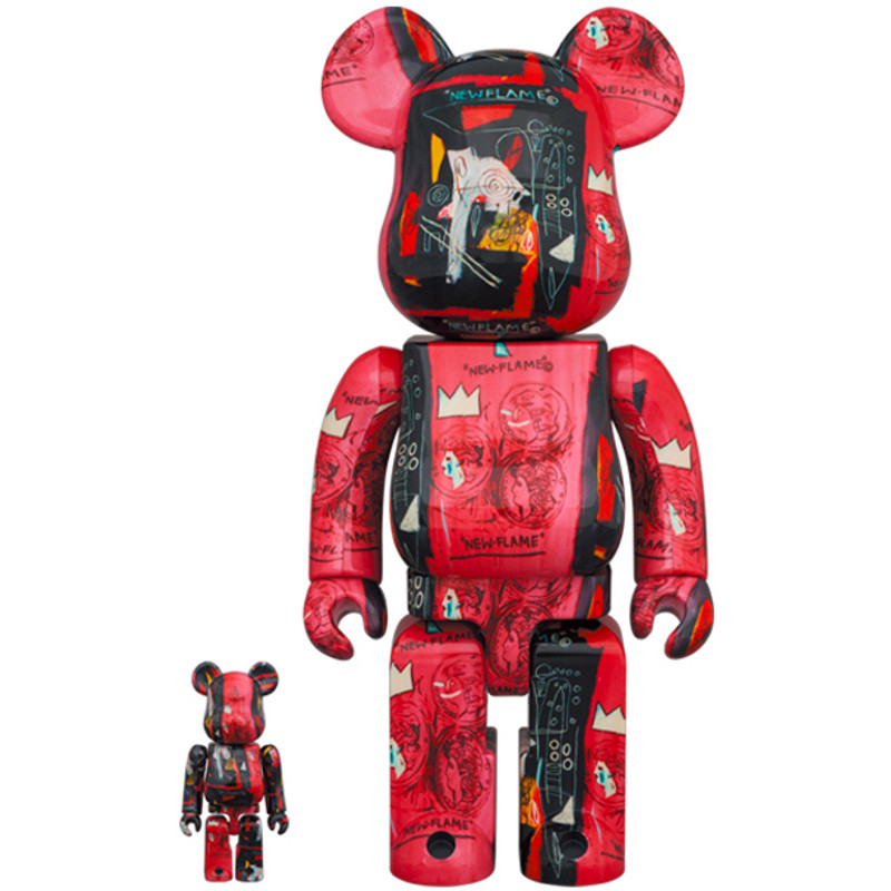 Be@rbrick 400% and 100% Andy Warhol X Jean Michel Basquiat #1