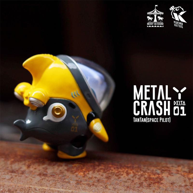 Space Pilot TAN TAN Metal Crash Yellow by Kuchu