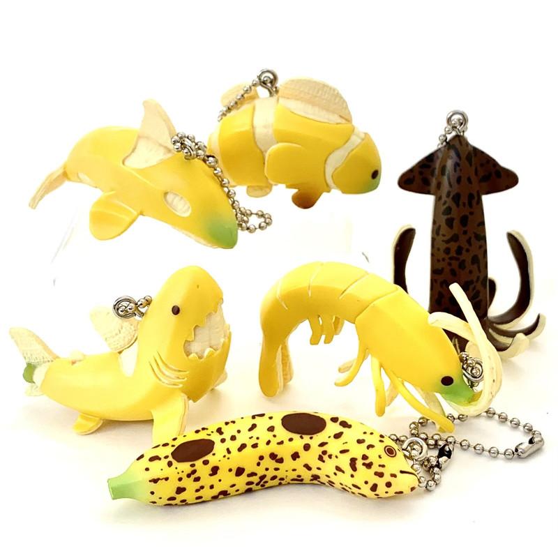 Banana Sea Animals Capsule Toys