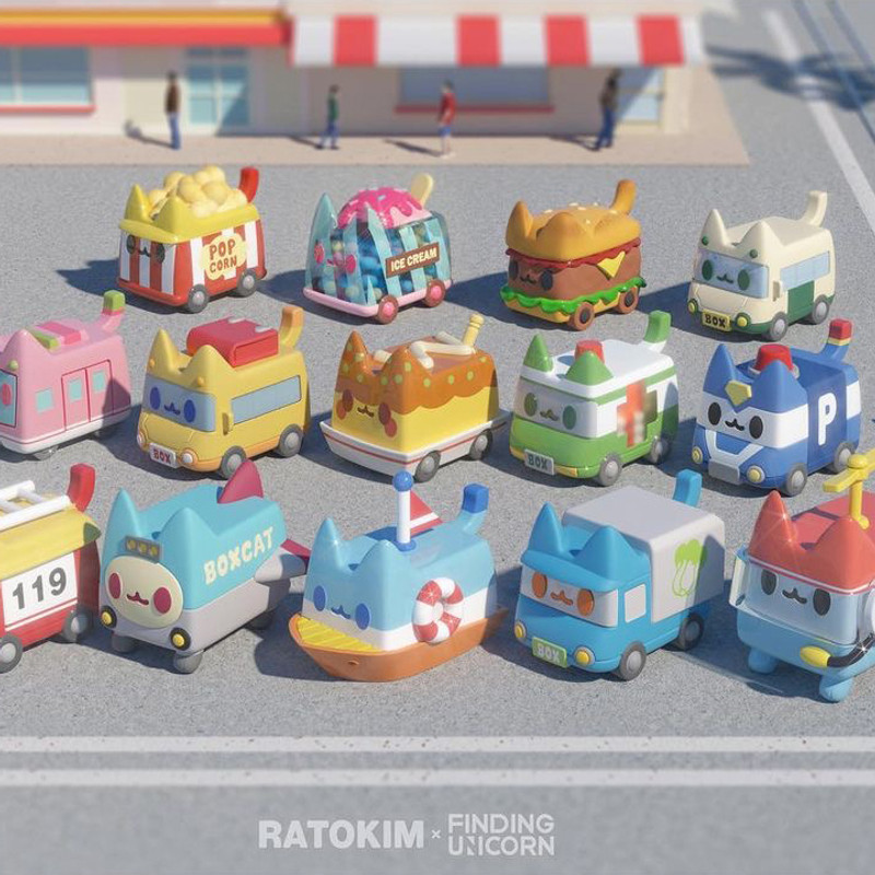 Boxcat Transport Series Blind Box by Rato Kim PRE-ORDER SHIPS JUL 2021