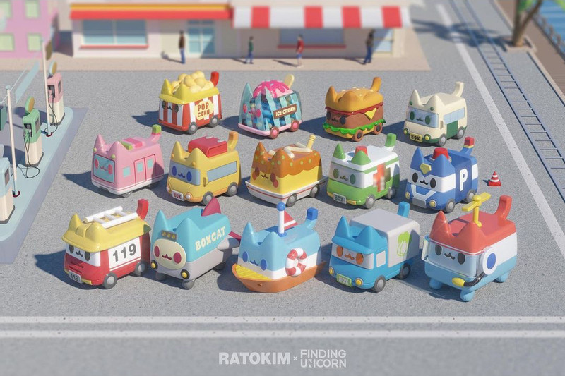 Boxcat Transport Series Blind Box by Rato Kim