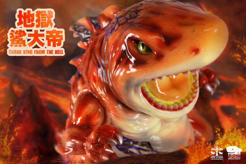 Shark King From The Hell Lava Version by Momoco PRE-ORDER SHIPS JUN 2021