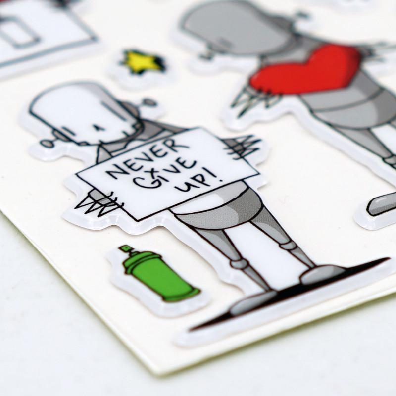 Robots Will Kill Puffy Stickers Series 1