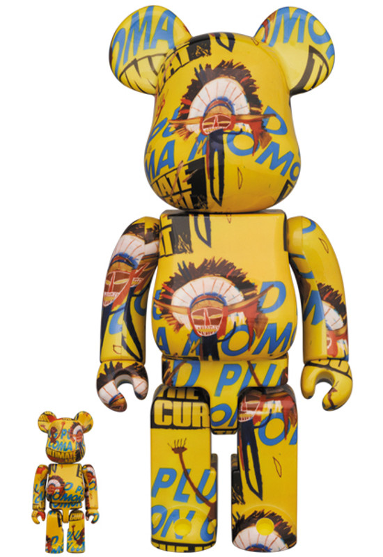 Be@rbrick 400% and 100% Andy Warhol X Jean Michel Basquiat #3 PRE-ORDER SHIPS JAN 2022