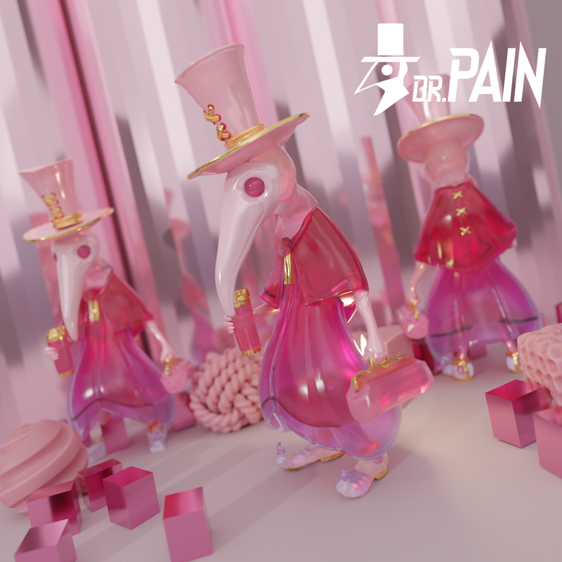 Dr. Pain Half Pink by Snake Wong PRE-ORDER SHIPS DEC 2021