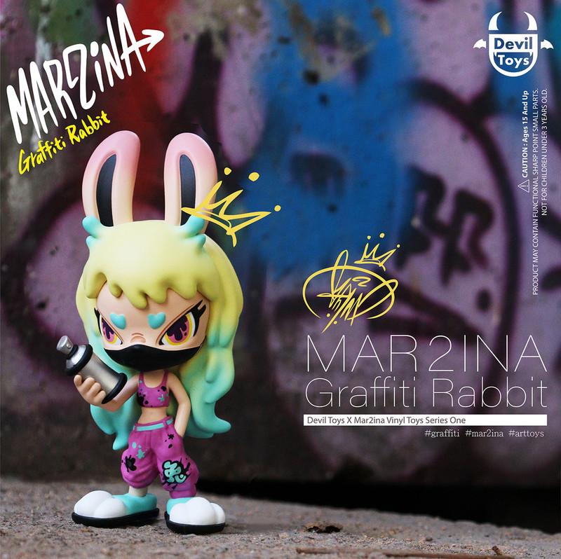 Mon2 Graffiti Rabbit by Mar2ina PRE-ORDER SHIPS AUG 2021