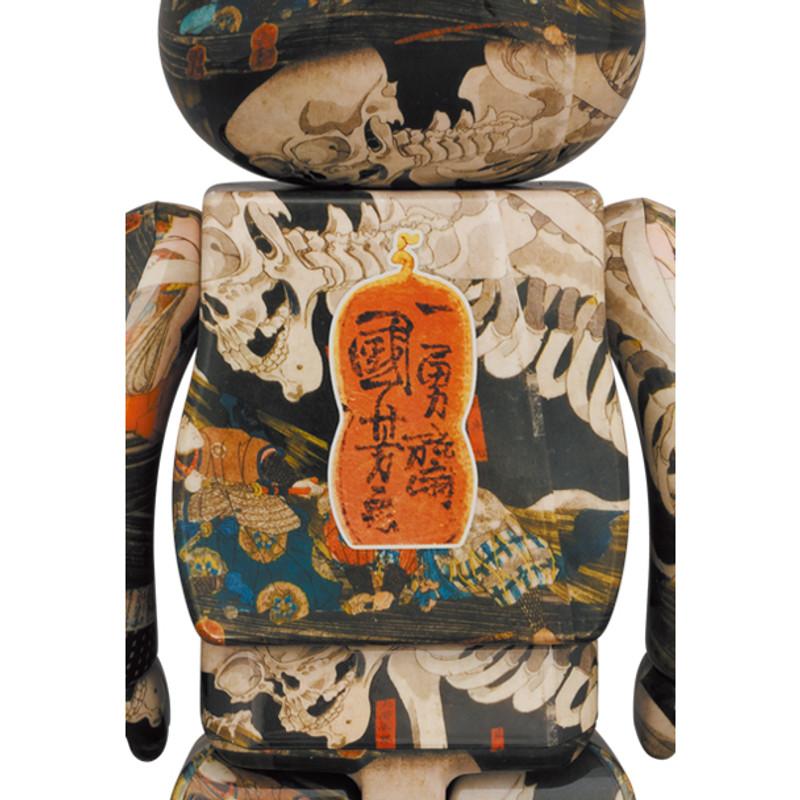 """Be@rbrick 400% and 100% """"The Haunted Old Palace at Soma"""" by Utagawa Kuniyoshi PRE-ORDER SHIPS FEB 2022"""