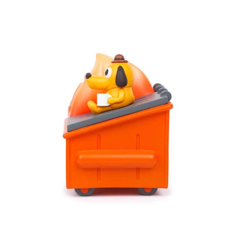 """""""This is Fine"""" Dumpster Fire Vinyl by KC Green X 100% Soft Figure PRE-ORDER SHIPS Q4 2021"""